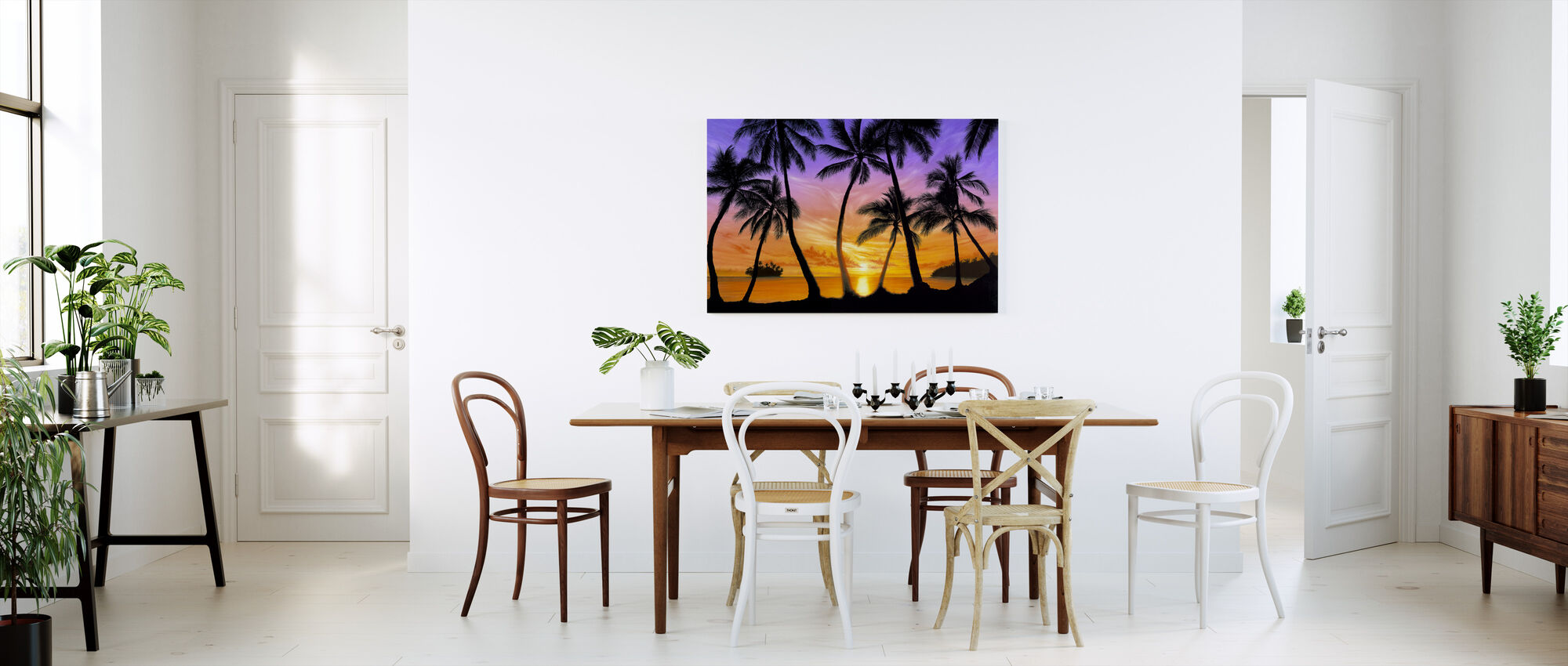 Palm Beach Sundown - Canvastavla - Kök