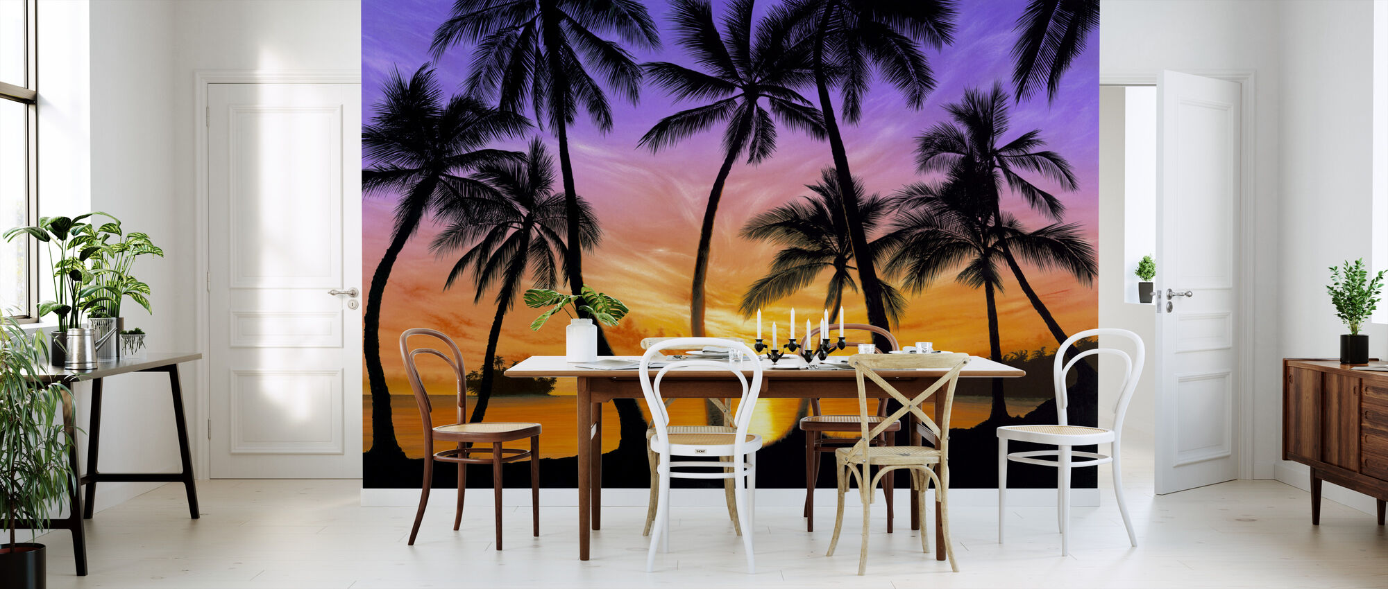 Palm Beach Sundown - Wallpaper - Kitchen