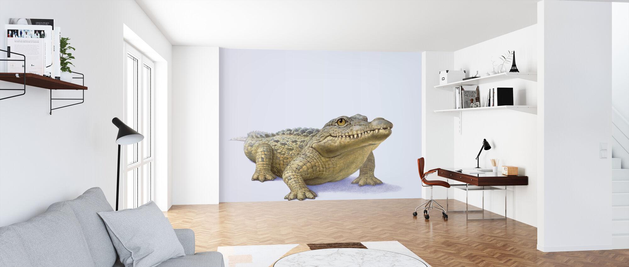 Krokodille Front - Tapet - Kontor