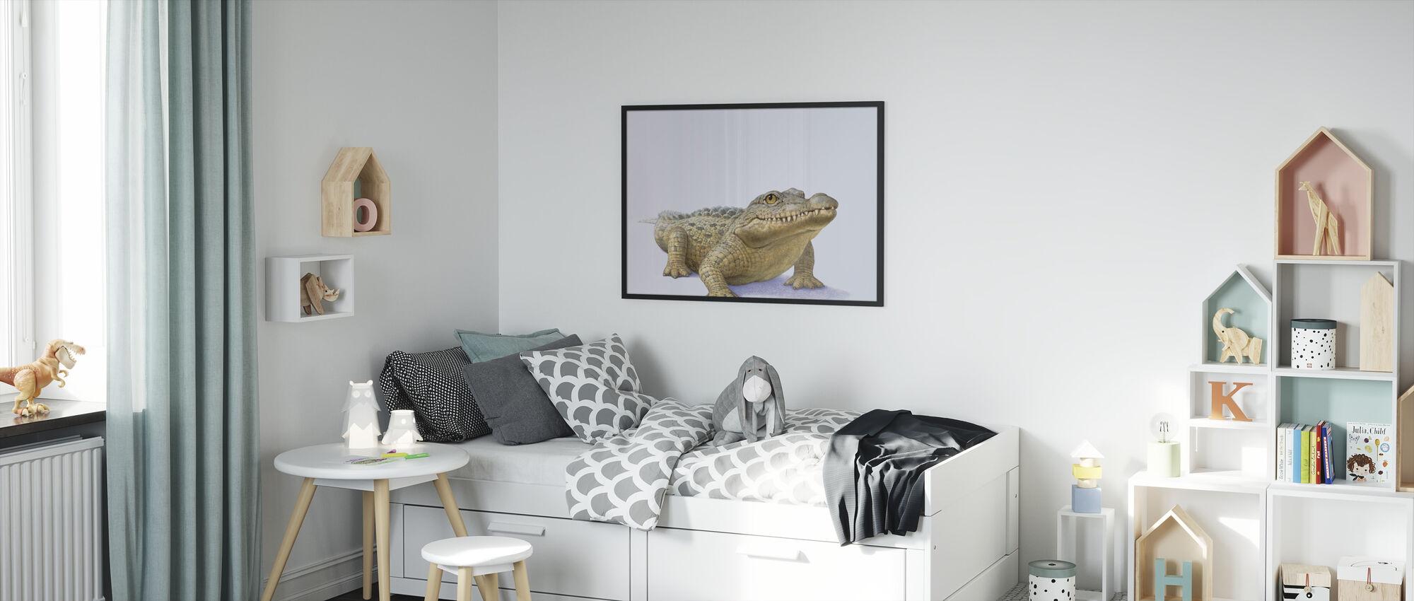 Crocodile Front - Framed print - Kids Room