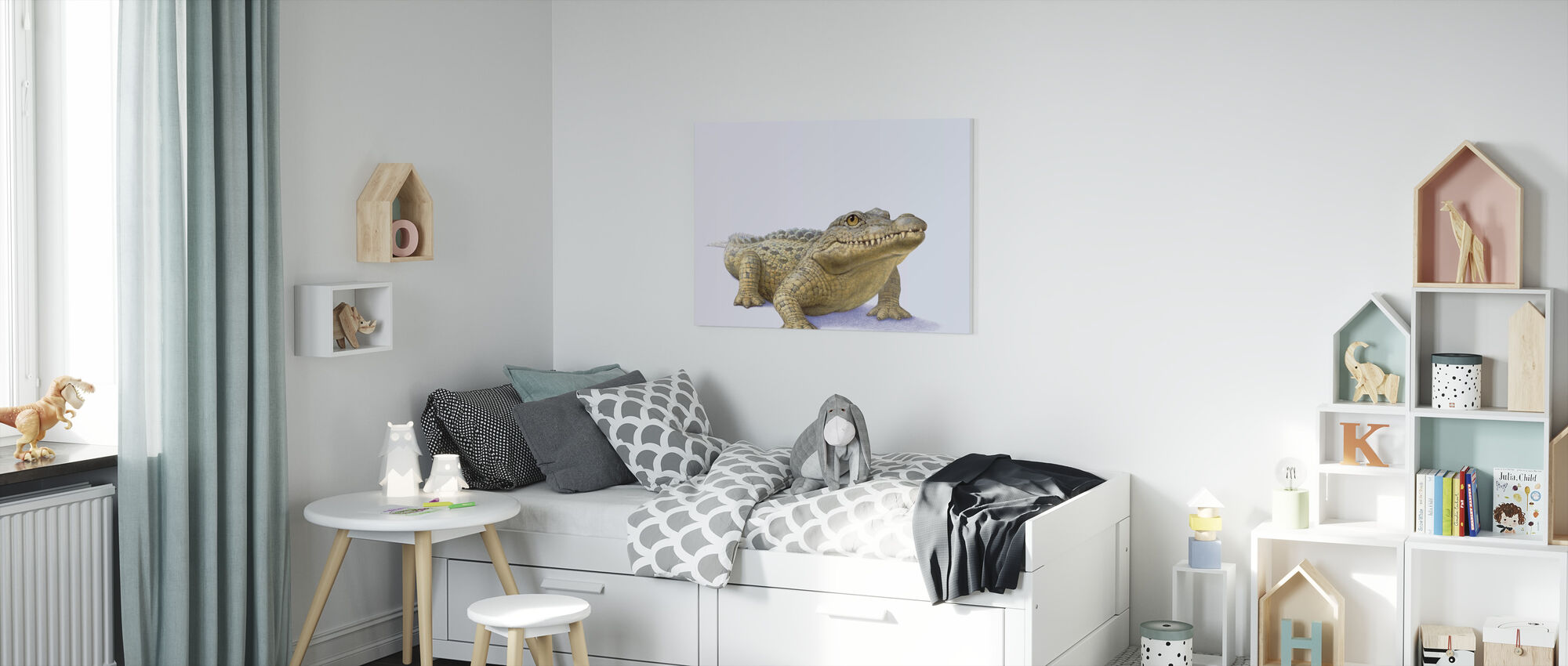 Crocodile Front - Canvas print - Kids Room
