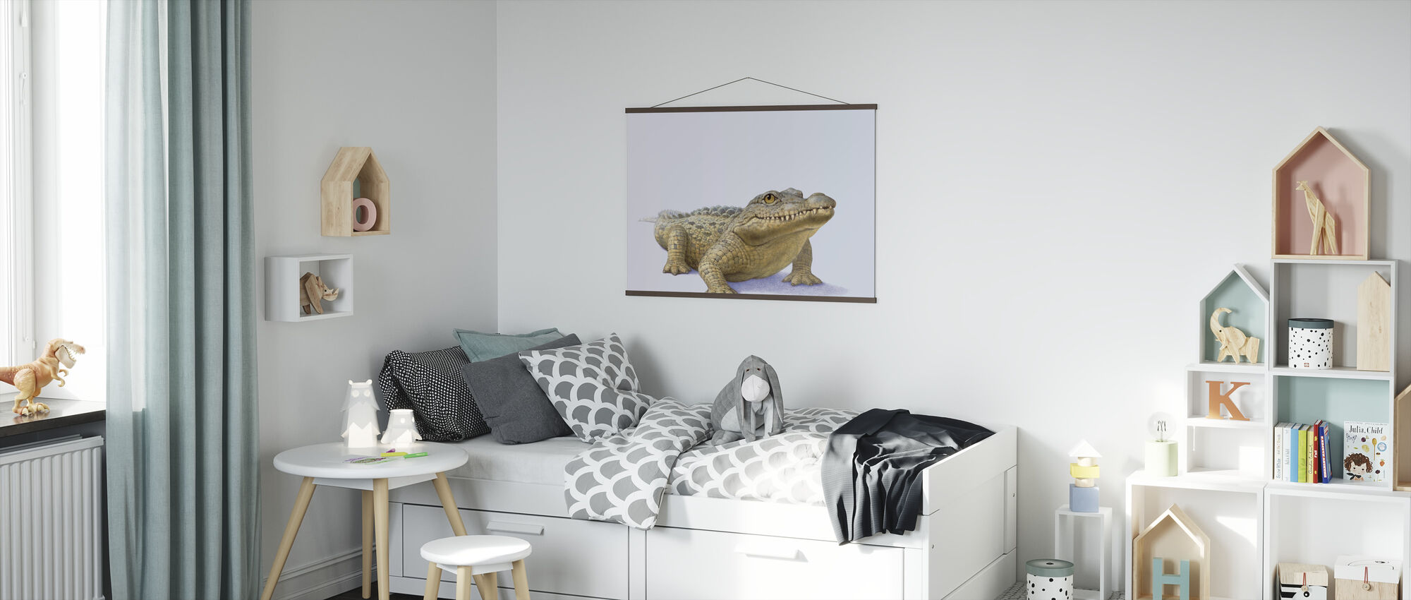 Crocodile Front - Poster - Kids Room