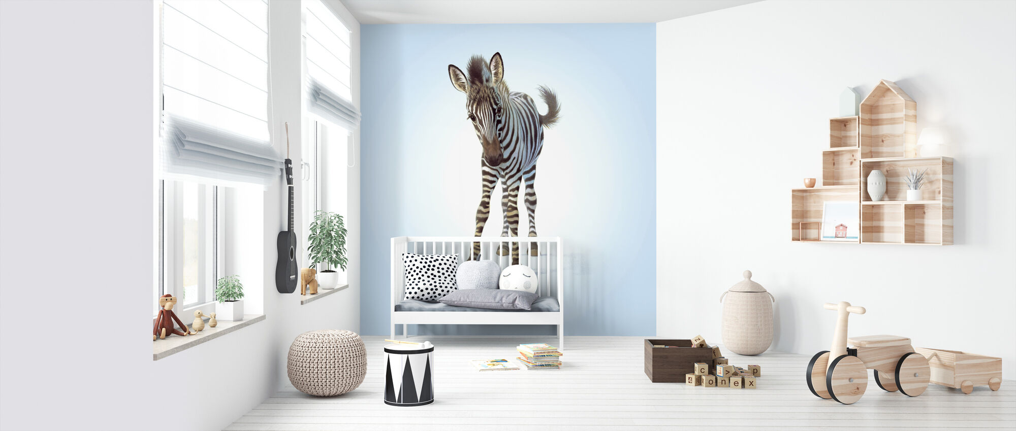 Zebra Foal - Wallpaper - Nursery