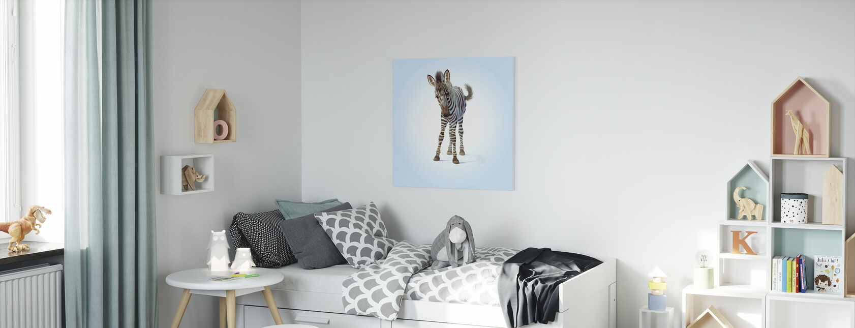 Zebra Foal - Canvas print - Kids Room