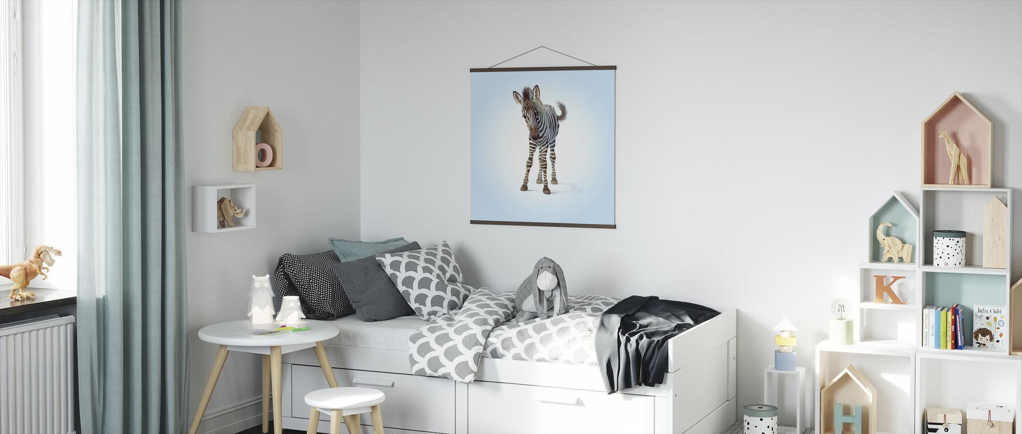 Zebra Veulen - Poster - Kinderkamer