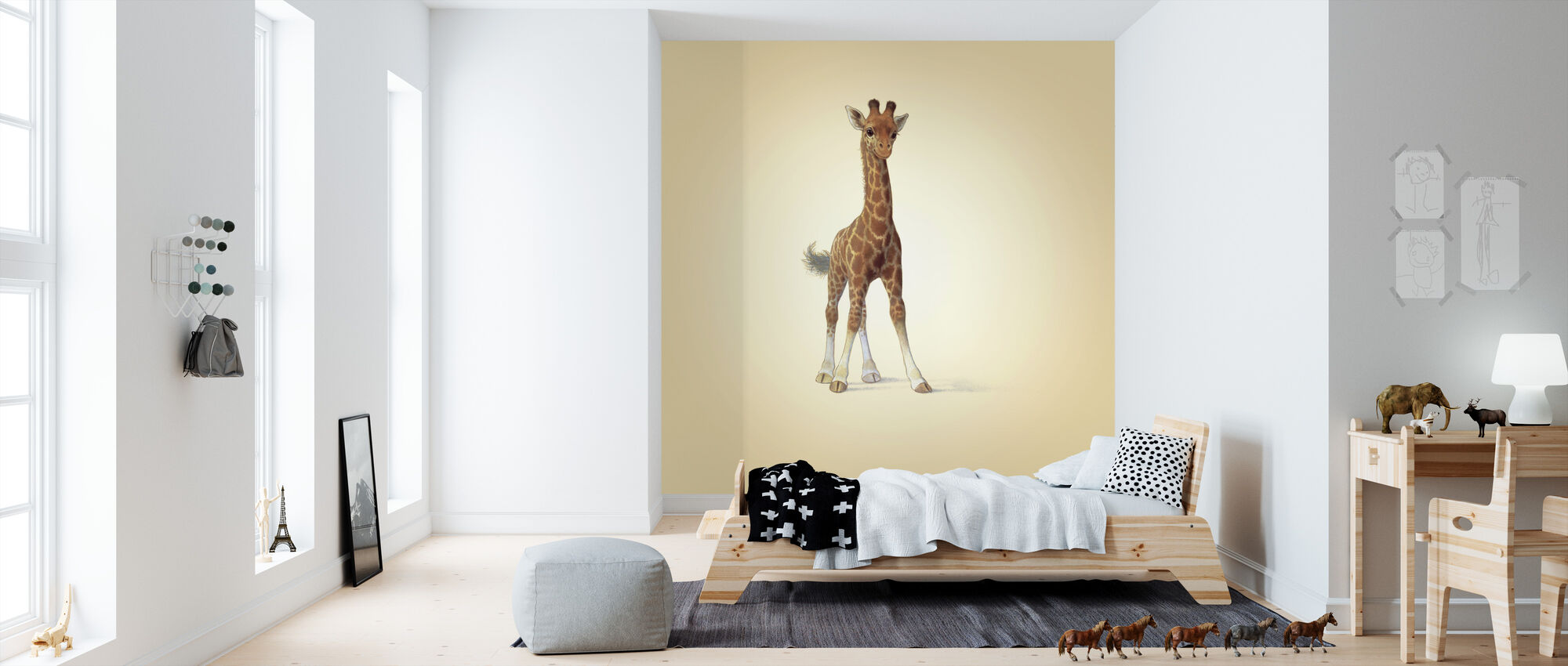 Giraffe Calf - Wallpaper - Kids Room