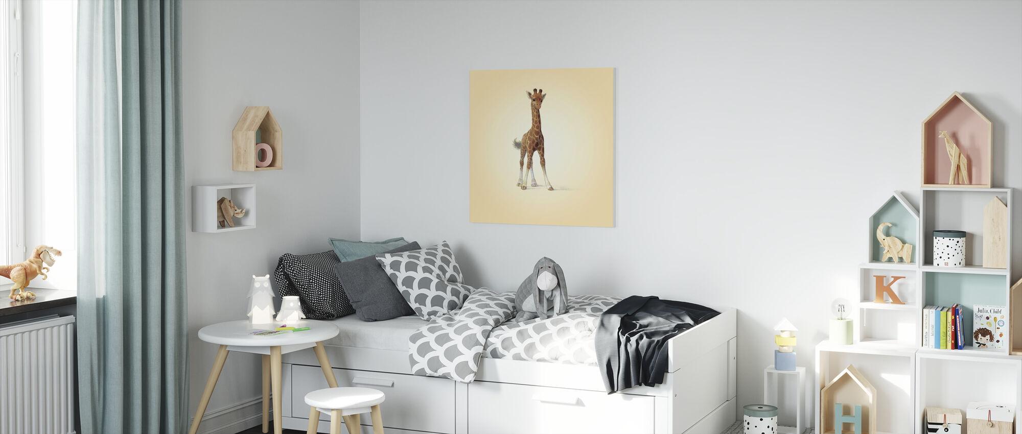 Giraffe Calf - Canvas print - Kids Room