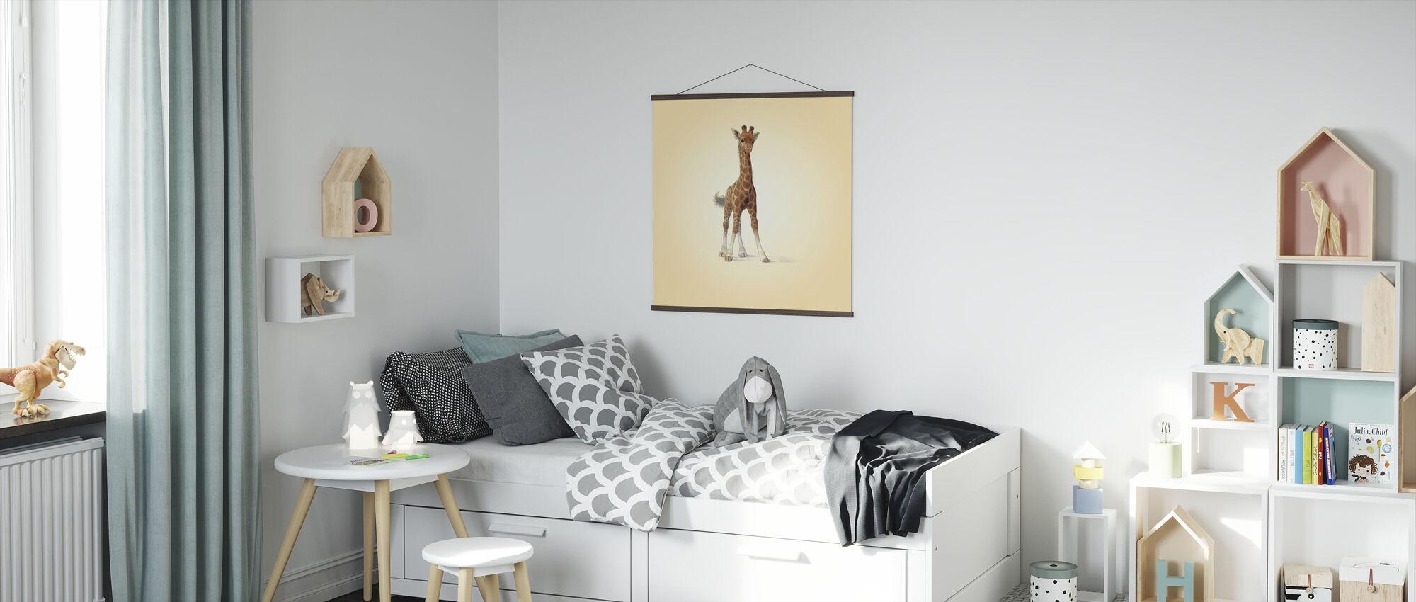 Giraffe Calf - Poster - Kids Room