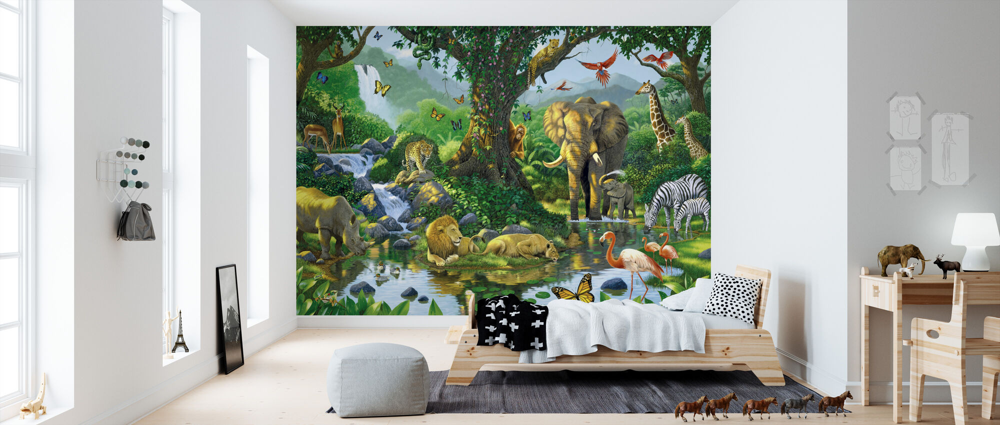 Jungle Harmony - Wallpaper - Kids Room