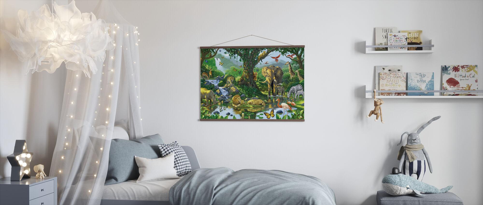 Jungle harmoni - Plakat - Børneværelse
