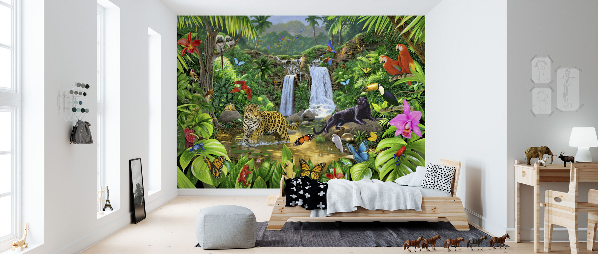Rainforest Harmony - Wallpaper - Kids Room