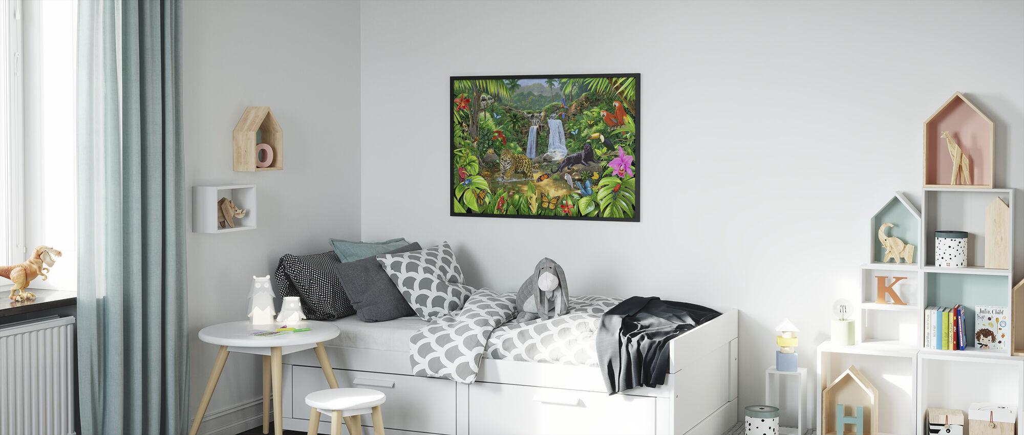 Rainforest Harmony - Framed print - Kids Room