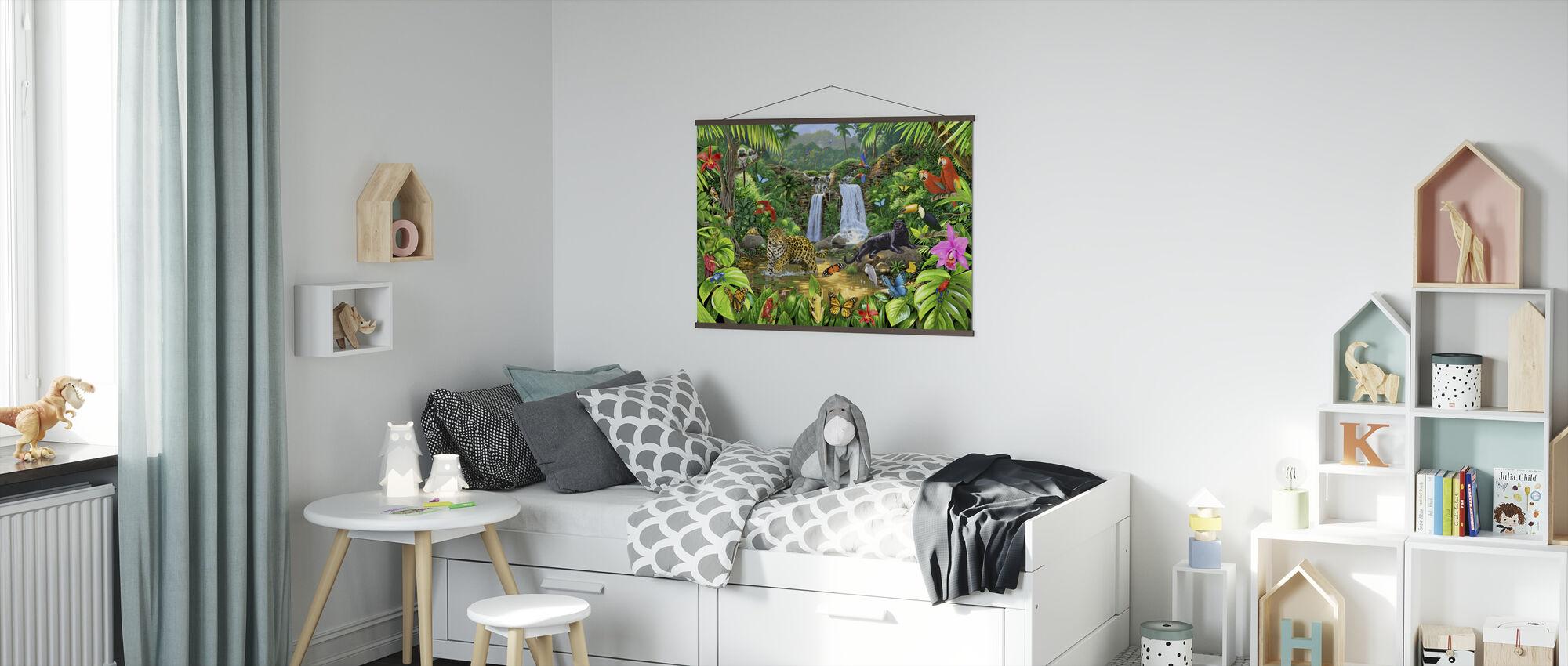 Regenwaldharmonie - Poster - Kinderzimmer