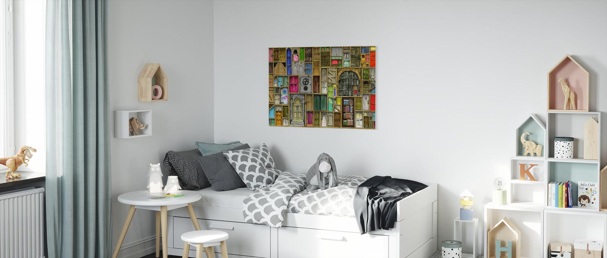 Deuren gesloten - Canvas print - Kinderkamer