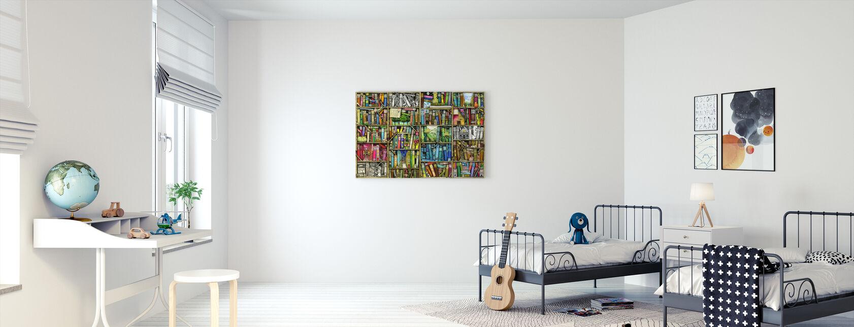 Fantasy Bookshelf - Canvas print - Kids Room