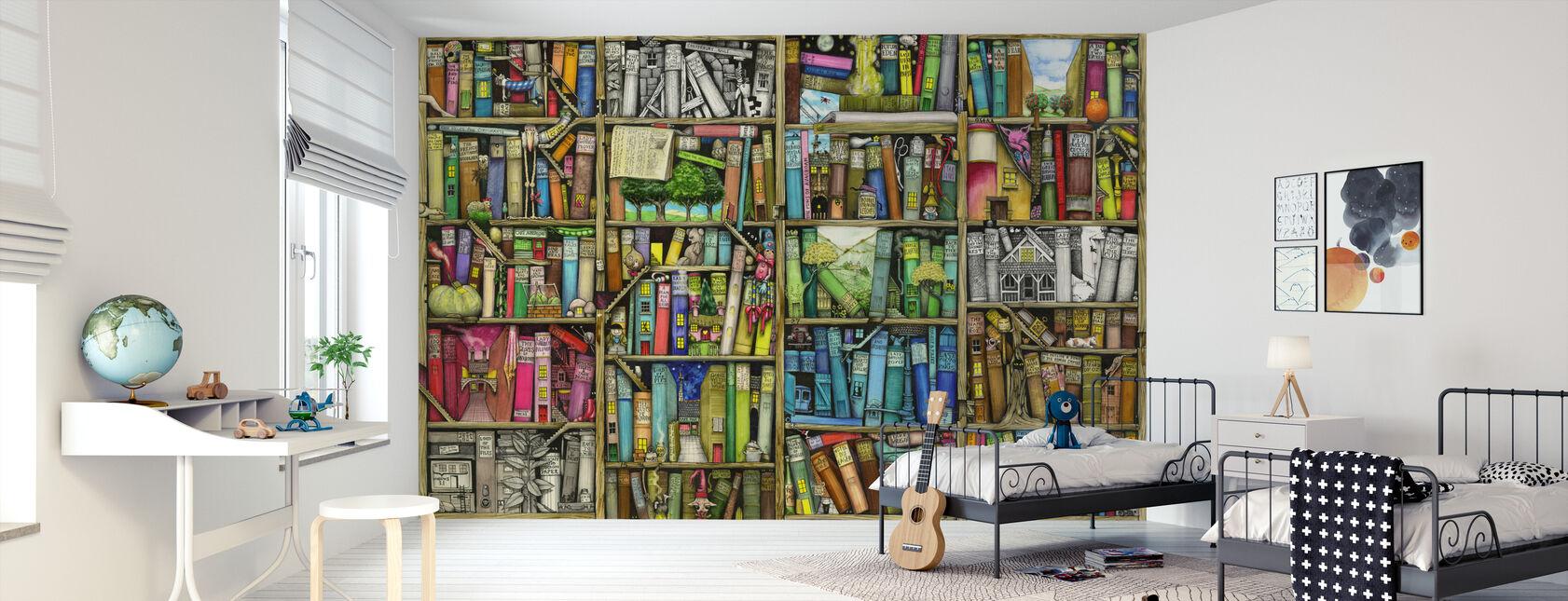 Fantasy Bookshelf - Wallpaper - Kids Room