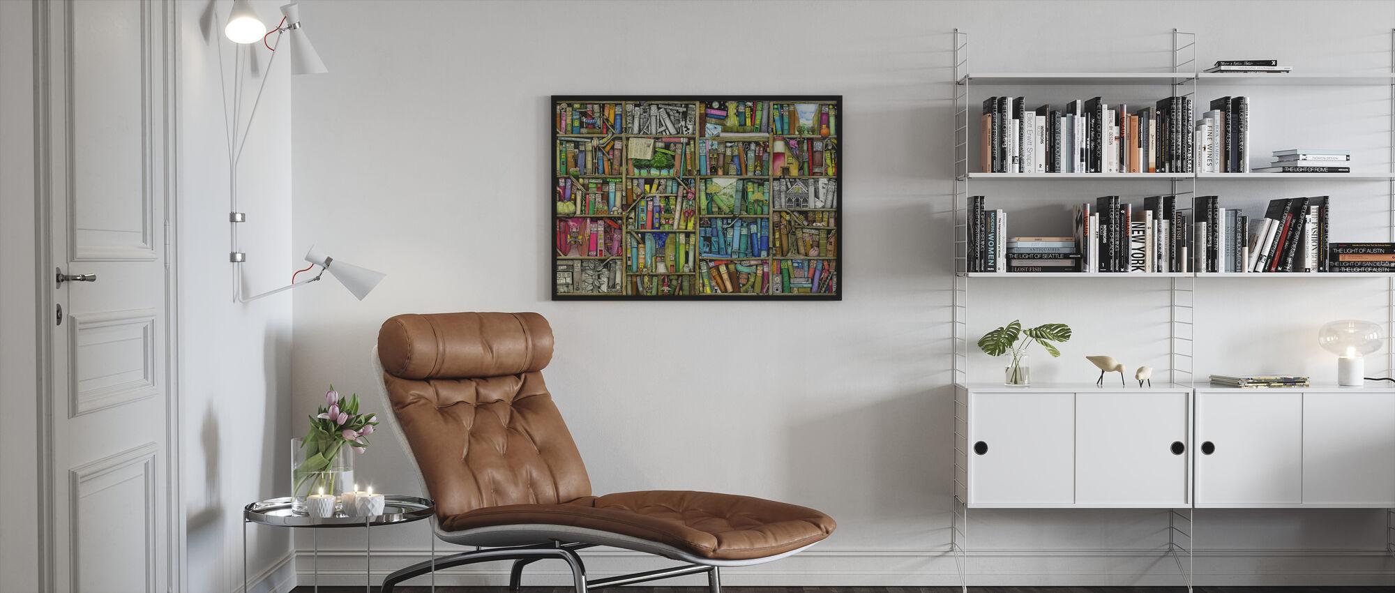 Fantasy Kirjahylly - Kehystetty kuva - Olohuone