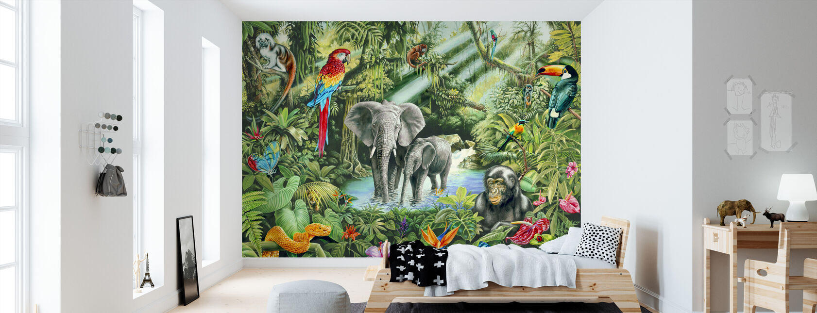 Jungle - Behang - Kinderkamer