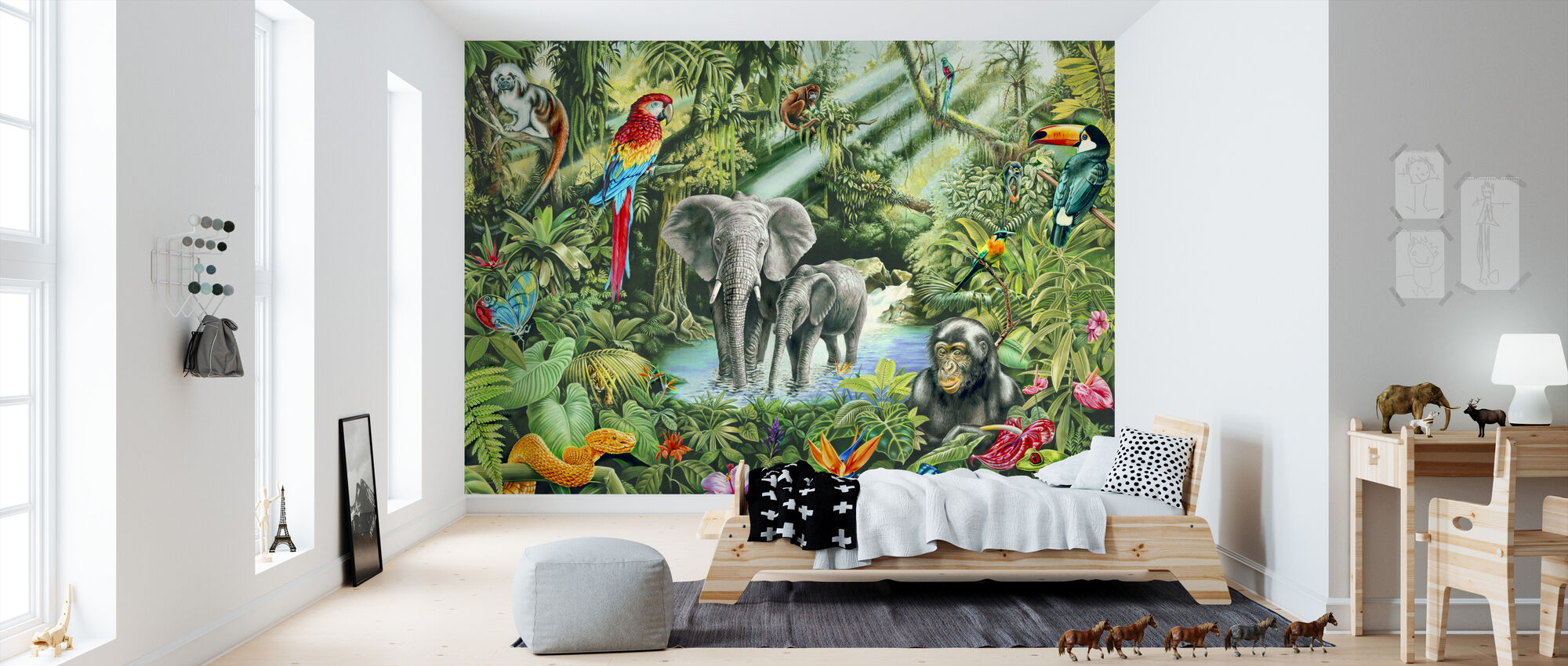 Jungle - Wallpaper - Kids Room