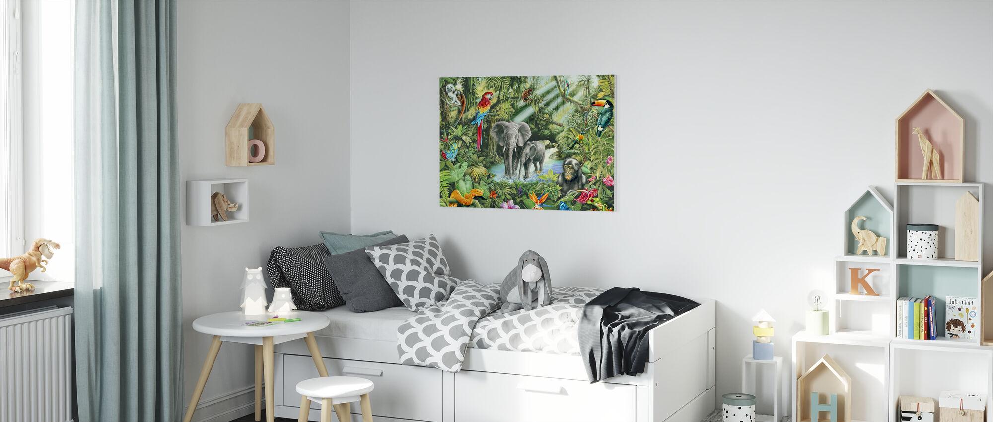 Jungle - Canvas print - Kinderkamer