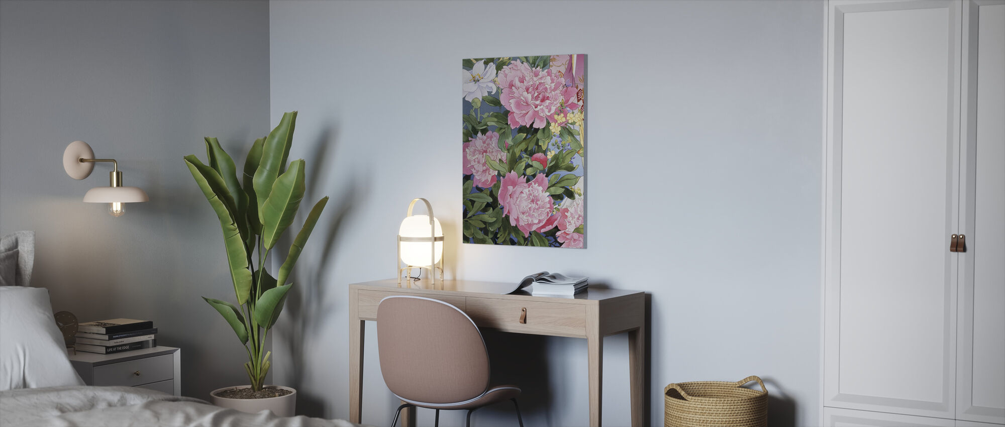 Syakuyaku - Canvas print - Office
