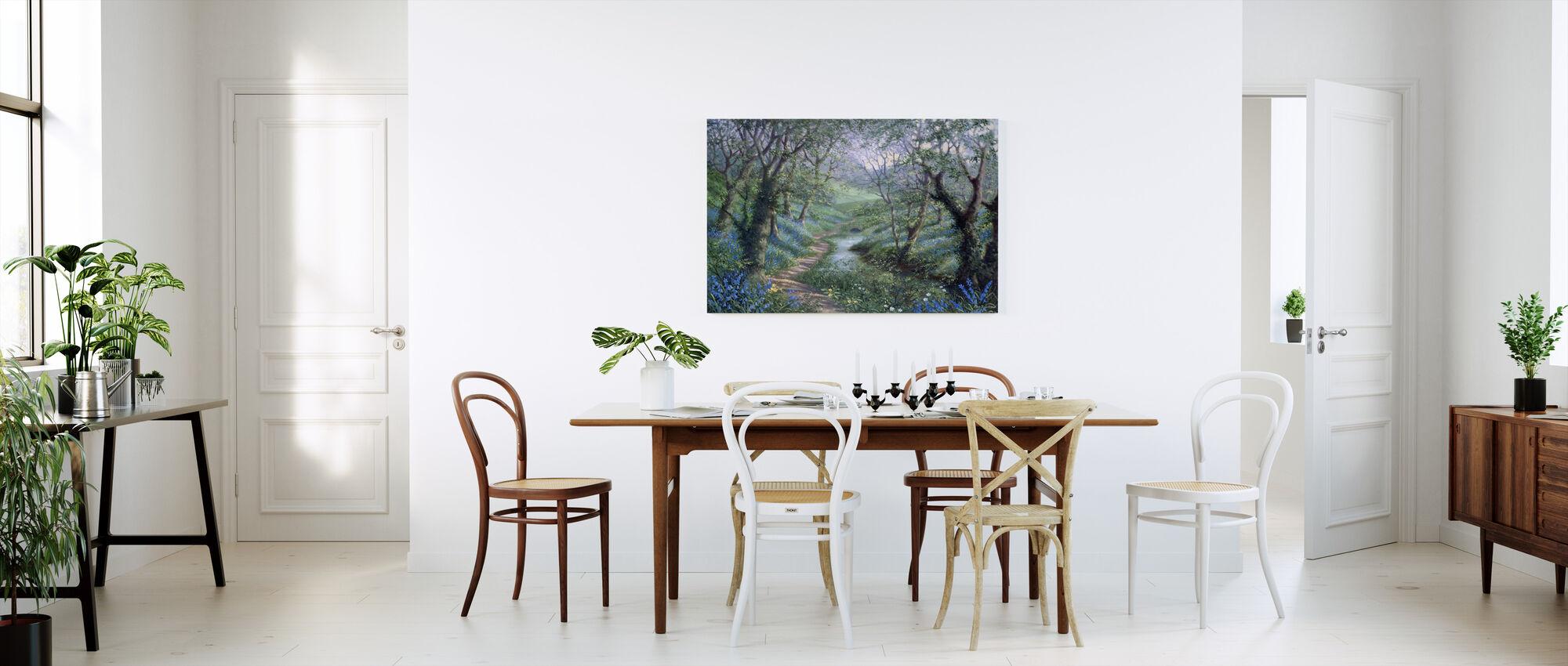 Spring River Path - Canvas print - Kitchen