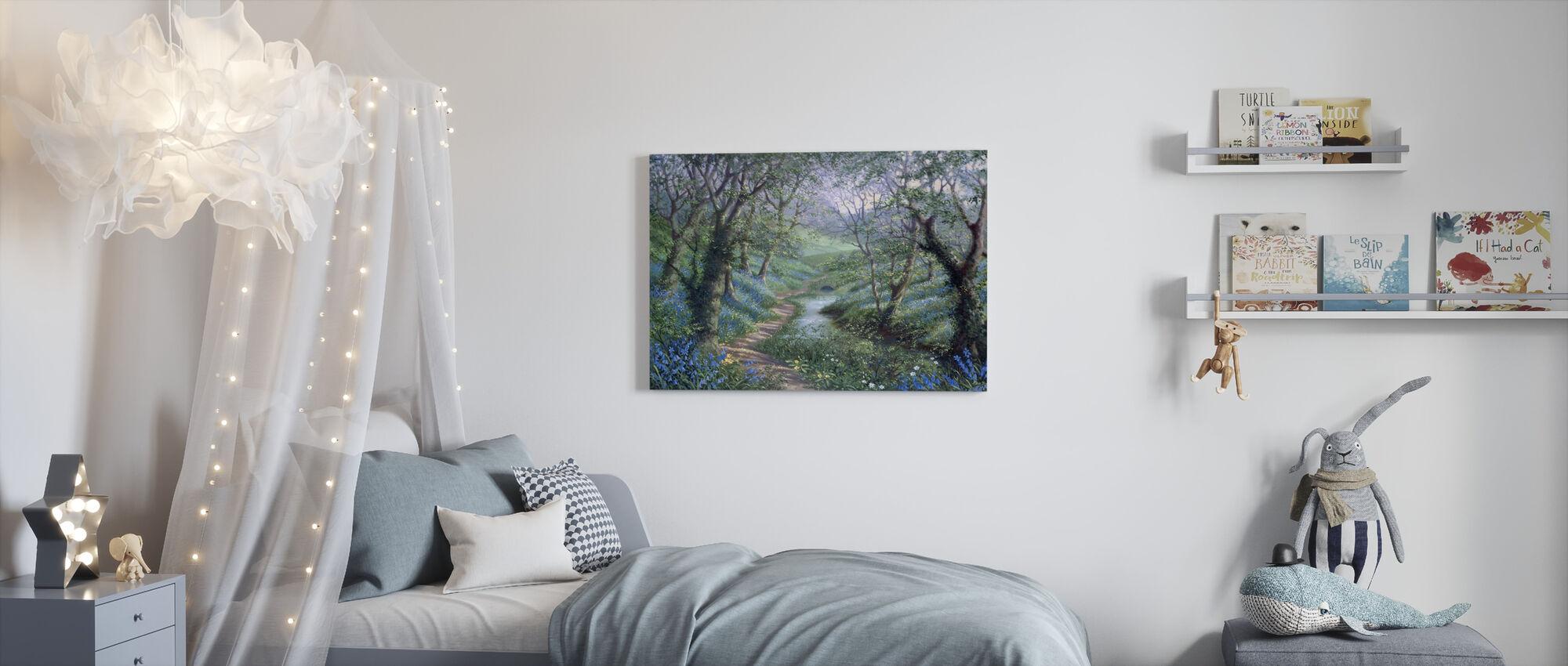 Spring River Path - Canvas print - Kids Room
