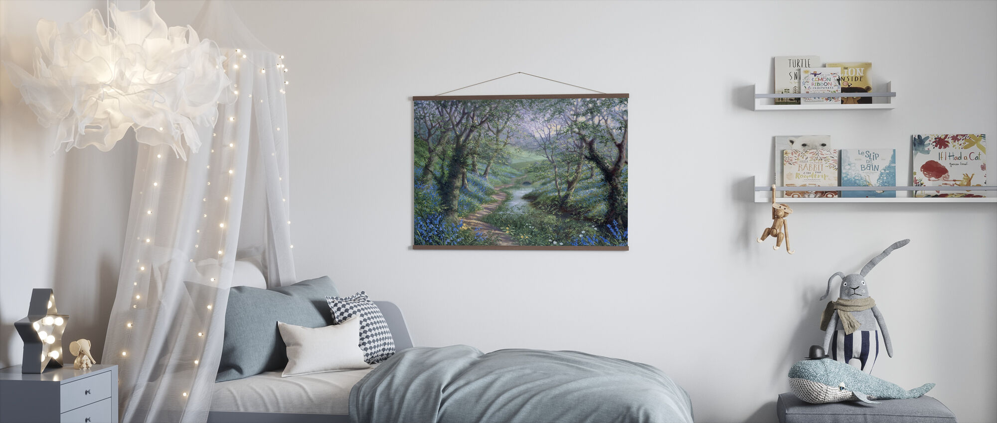Spring River Path - Poster - Kids Room