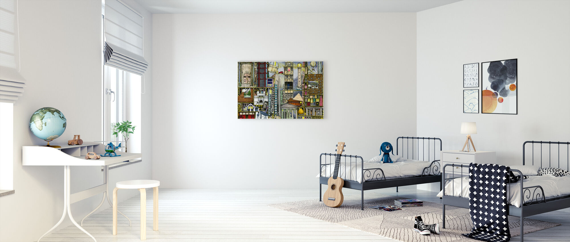 Onze Eerste Wereld Tour - Canvas print - Kinderkamer