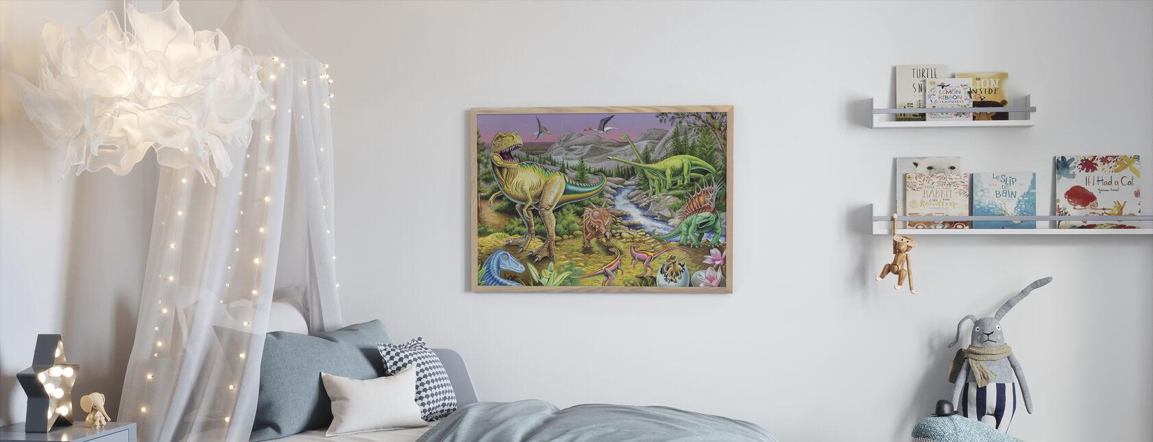 Jurassic Valley - Innrammet bilde - Barnerom