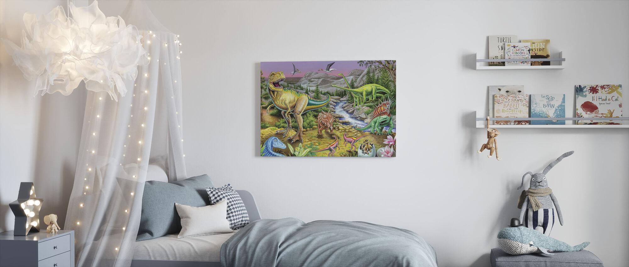 Jurassic Valley - Canvas print - Kids Room