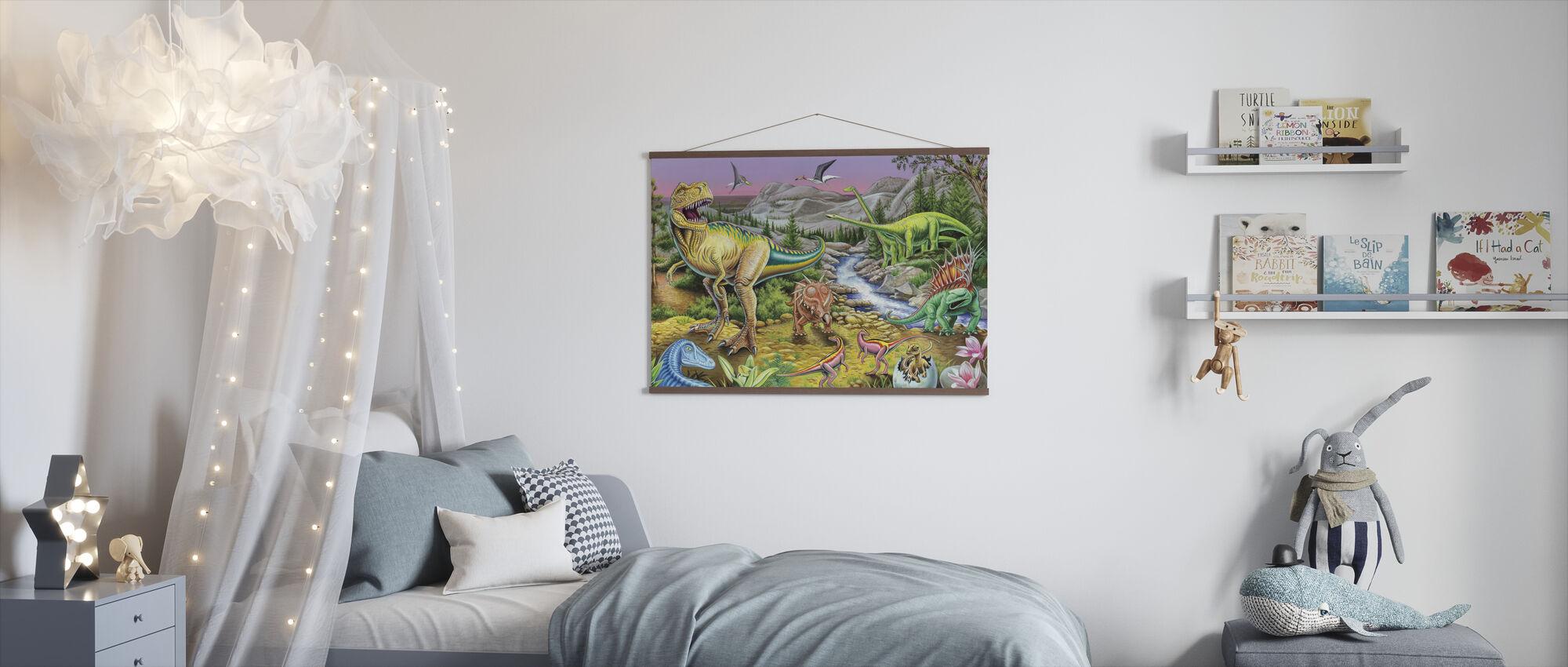 Jurassic Valley - Poster - Kids Room