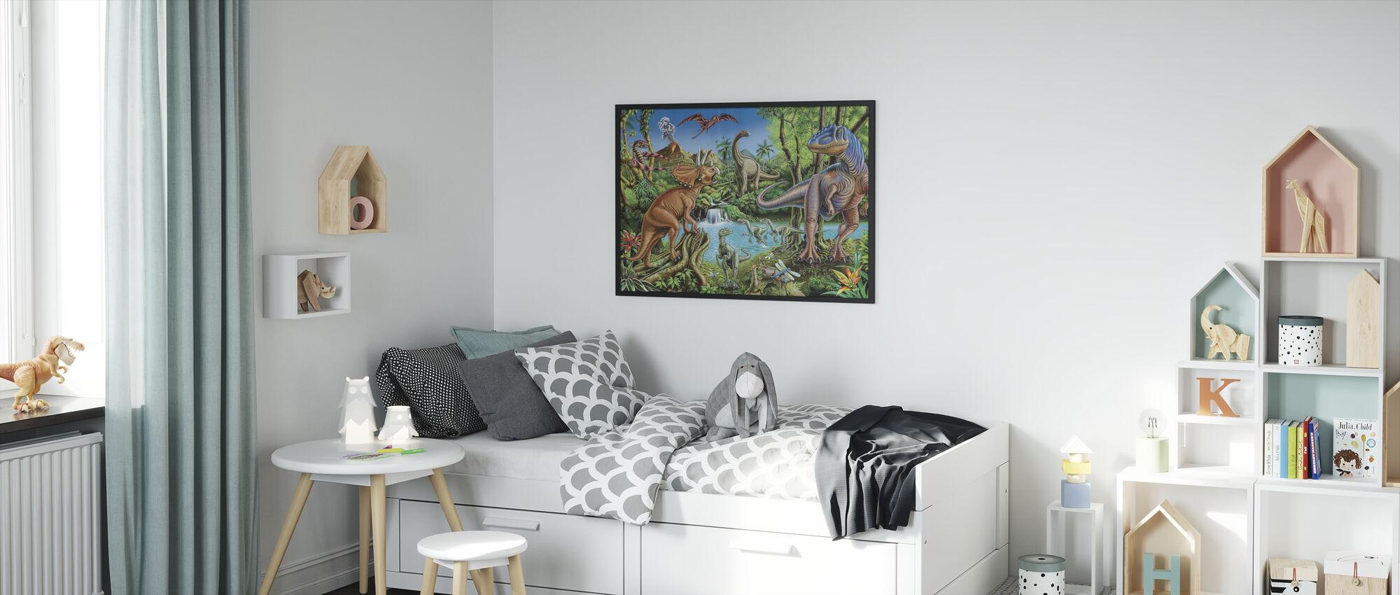 Dinosaur-fossen - Innrammet bilde - Barnerom