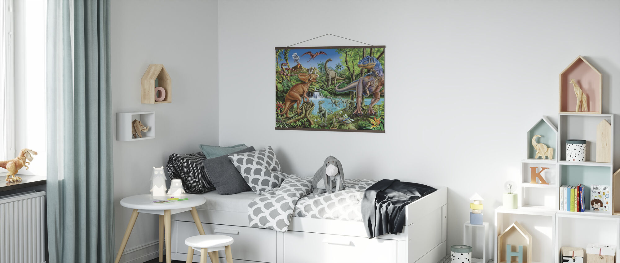 Dinosaur Waterfall - Poster - Kids Room