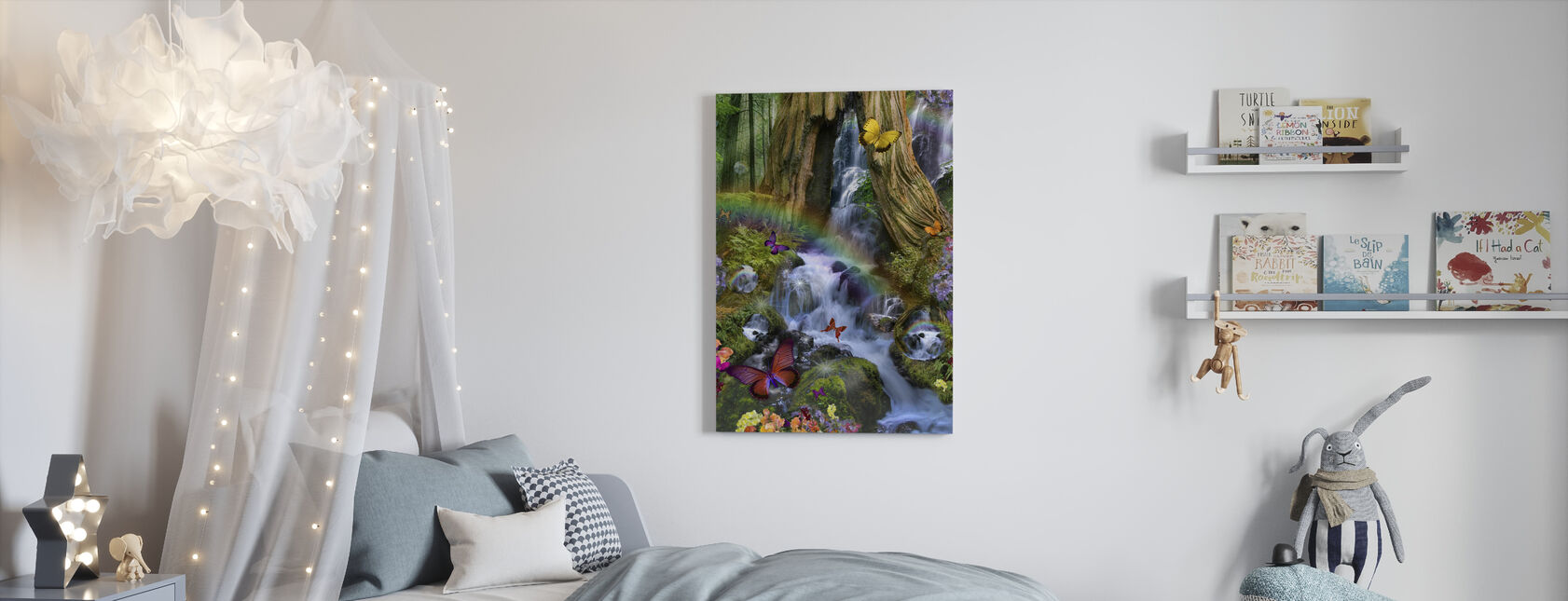 Woodland Forest Fairyland - Canvas print - Kids Room