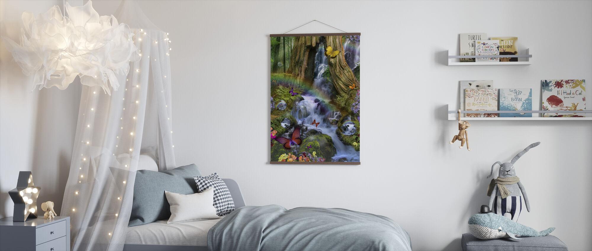 Skogsskog Fairyland - Poster - Barnrum