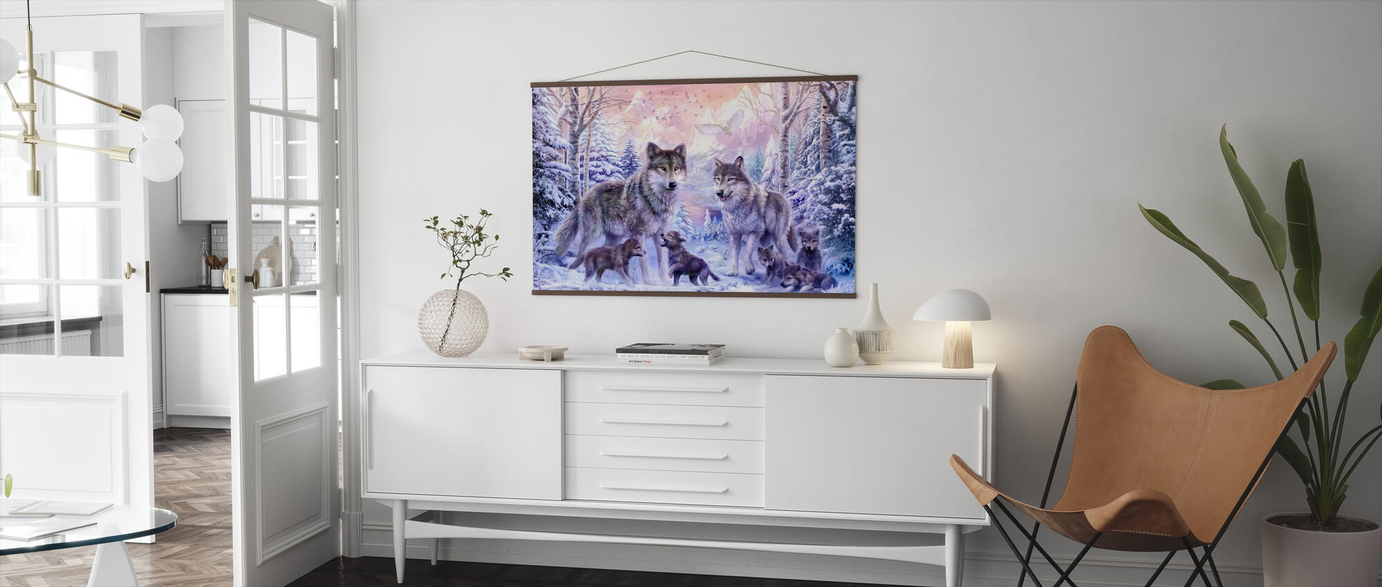 Winter Wolf Familie - Poster - Woonkamer