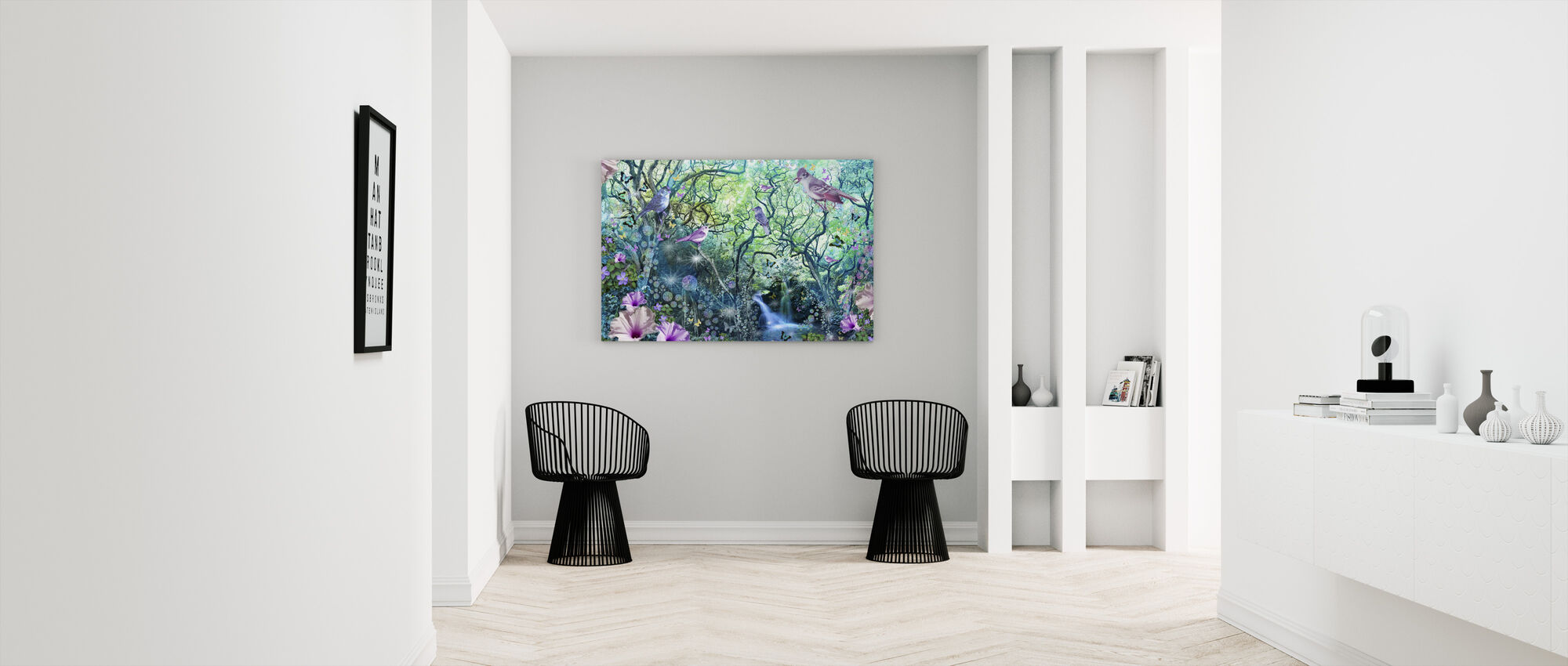 Pyörre Tree Puutarha - Canvastaulu - Aula