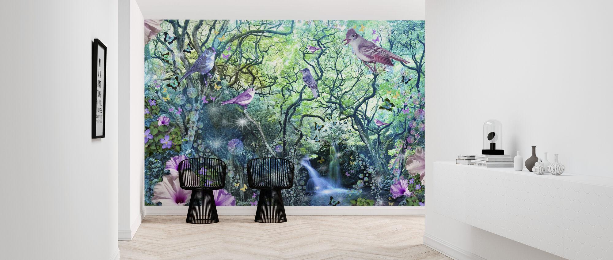 Swirly træ haven - Tapet - Entré