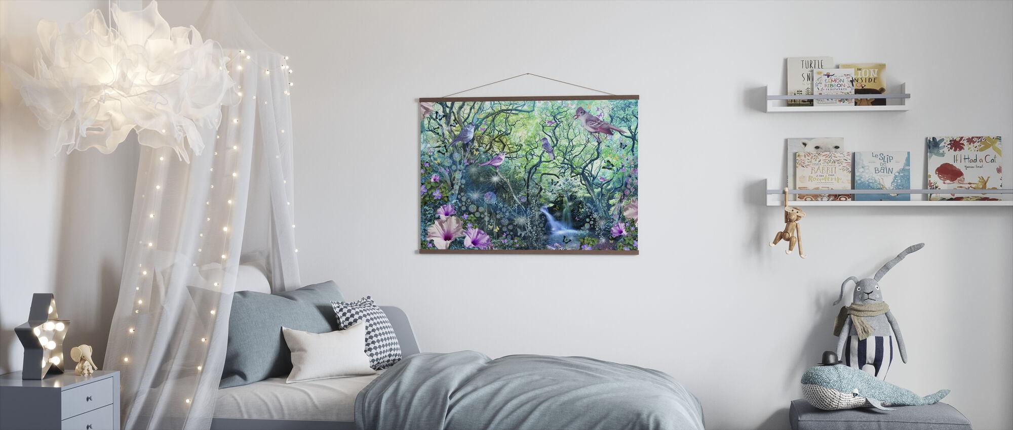 Swirly Tree Garden - Poster - Kids Room