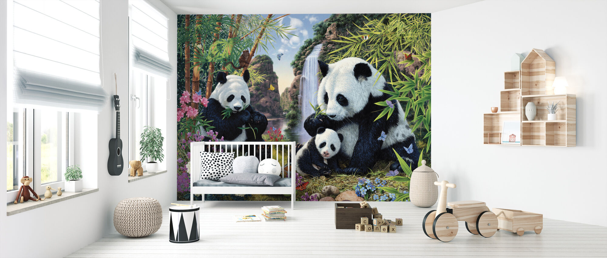 Panda Valley - Wallpaper - Nursery