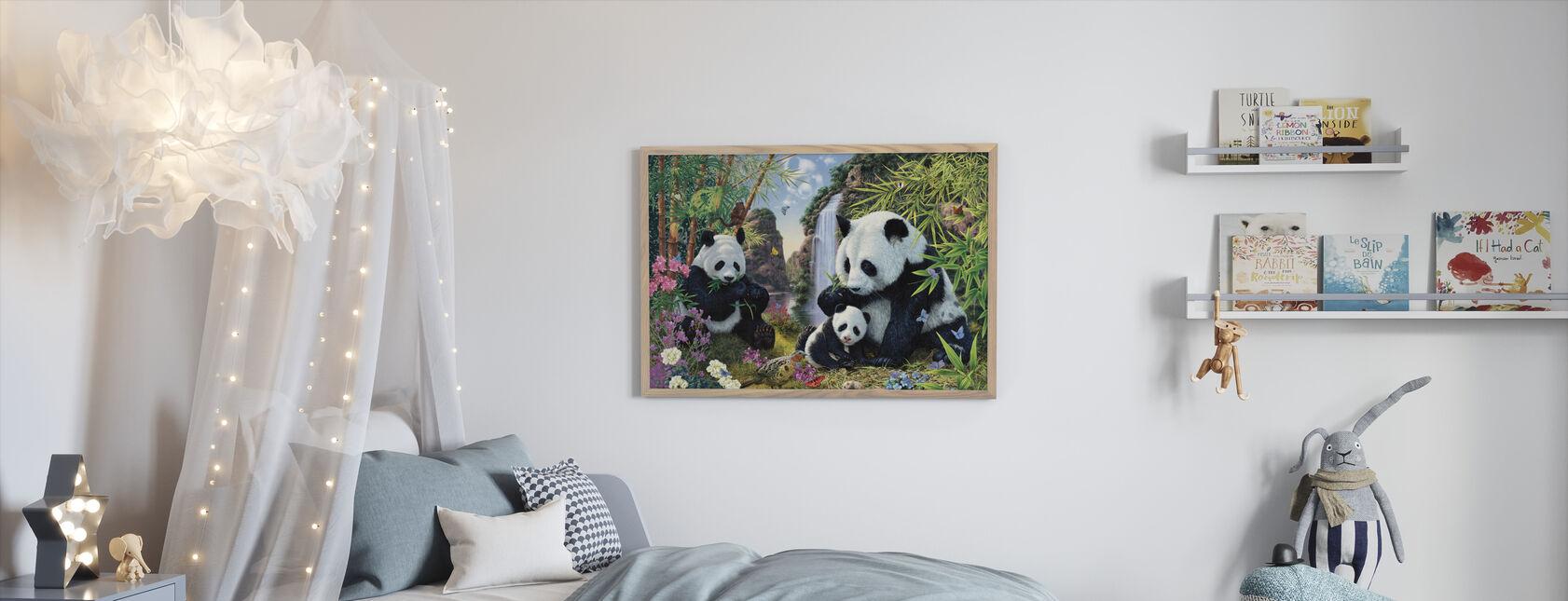 Panda Valley - Kehystetty kuva - Lastenhuone
