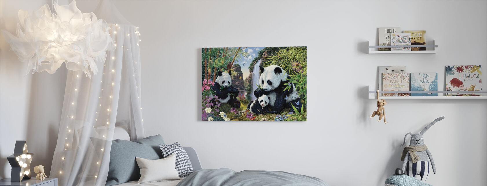 Panda-vallei - Canvas print - Kinderkamer