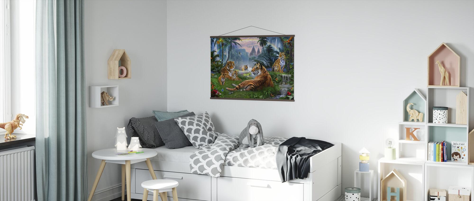 Tempelsee Tiger - Poster - Kinderzimmer