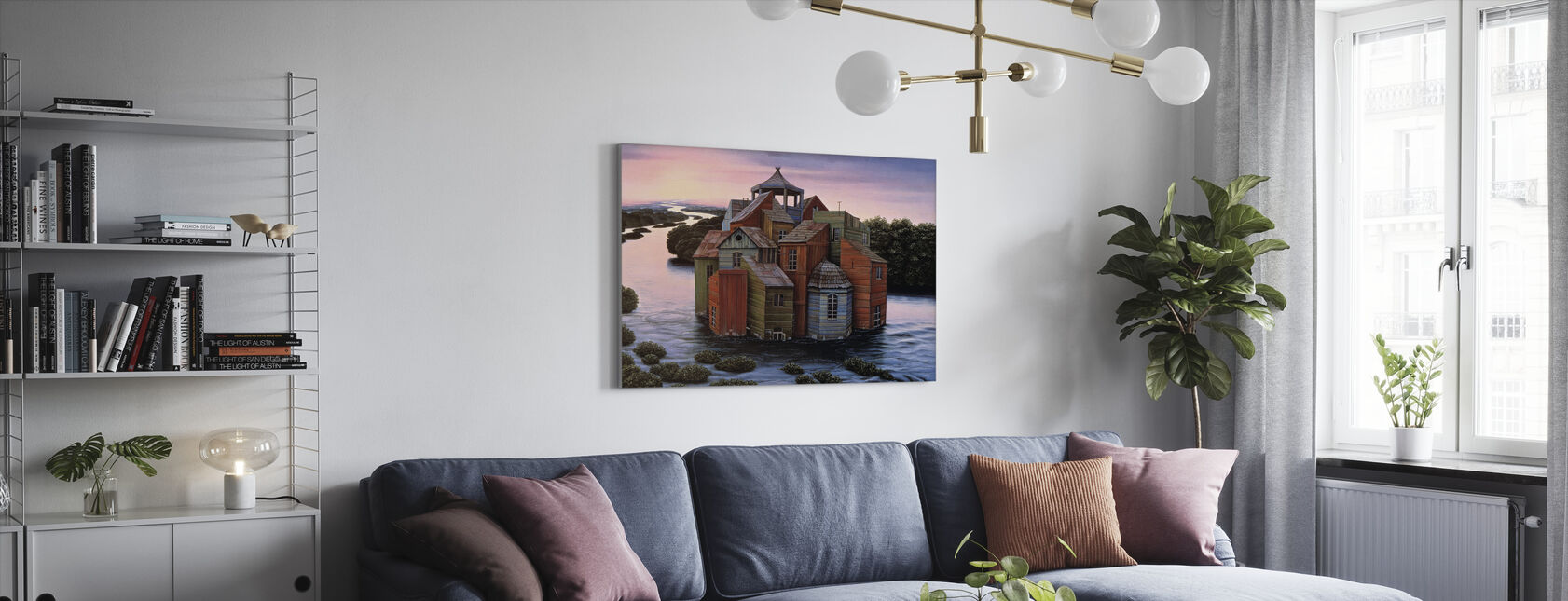 Fallingwater eiendom - Lerretsbilde - Stue