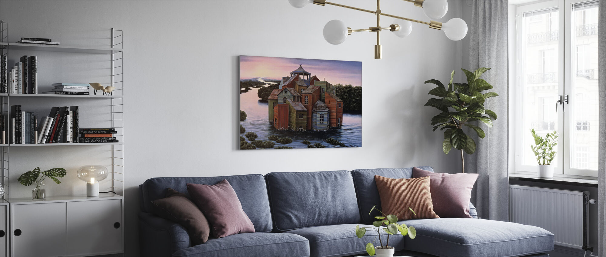 Fallingwater Estate - Canvastavla - Vardagsrum