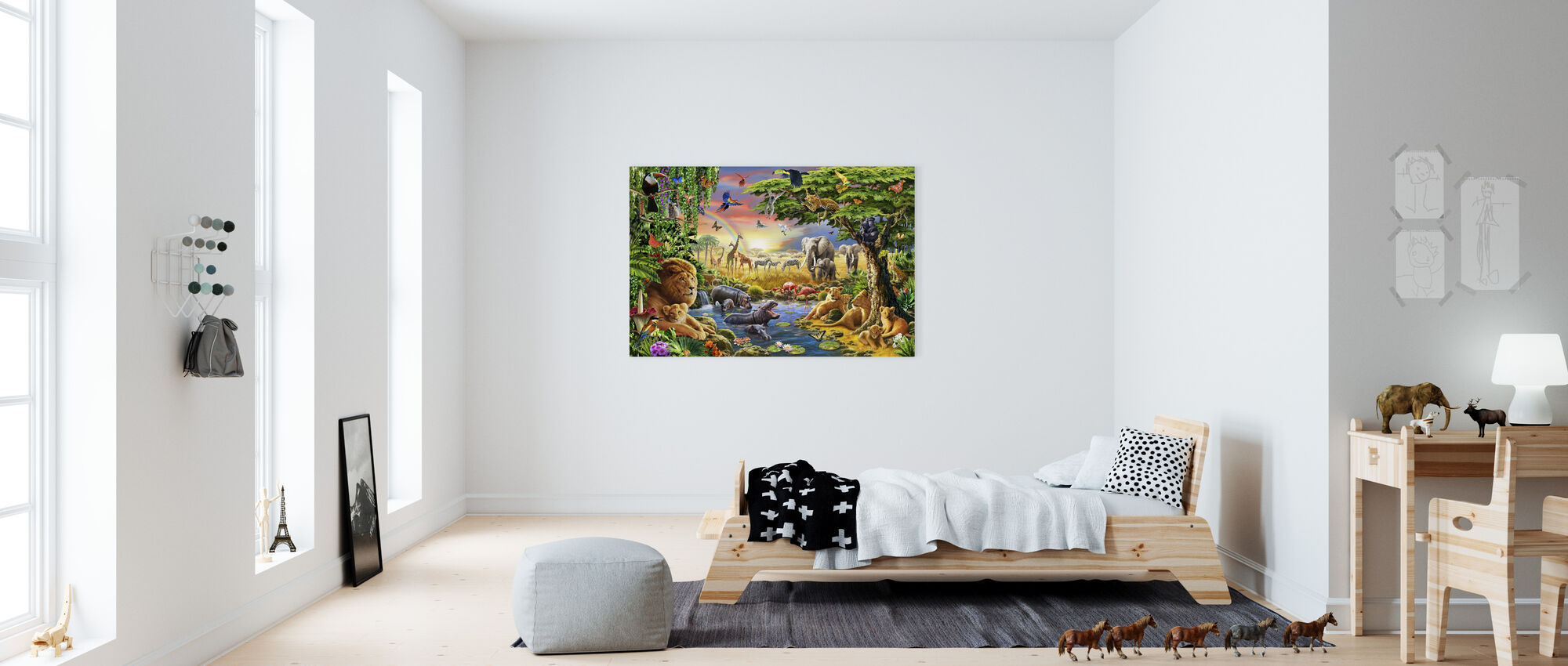- Waterhole. - Yeah - Canvas print - Kids Room