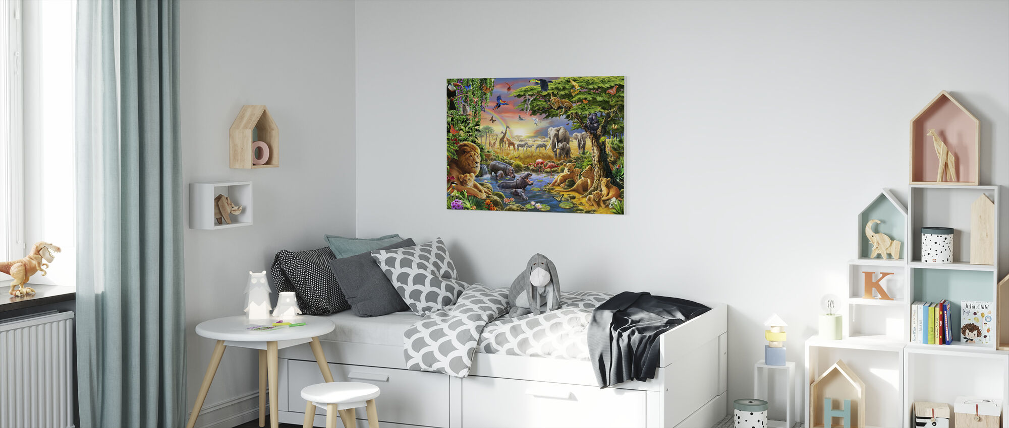 - Waterhole. - Yeah - Canvas print - Kids Room