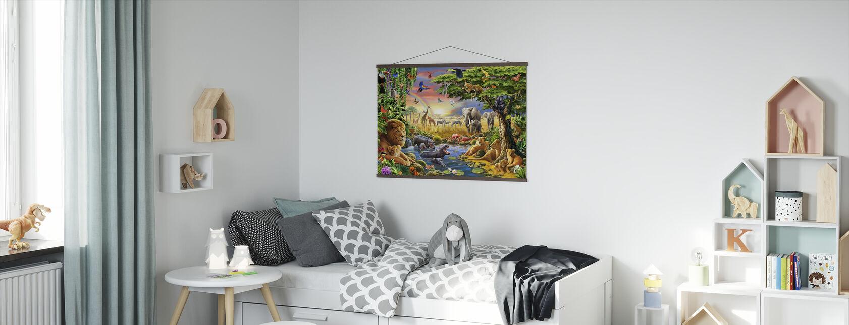 - Waterhole. - Yeah - Poster - Kids Room