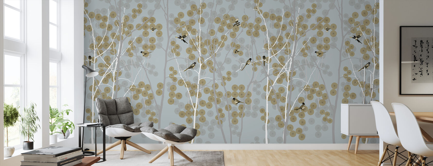 April Magpie - Wallpaper - Living Room